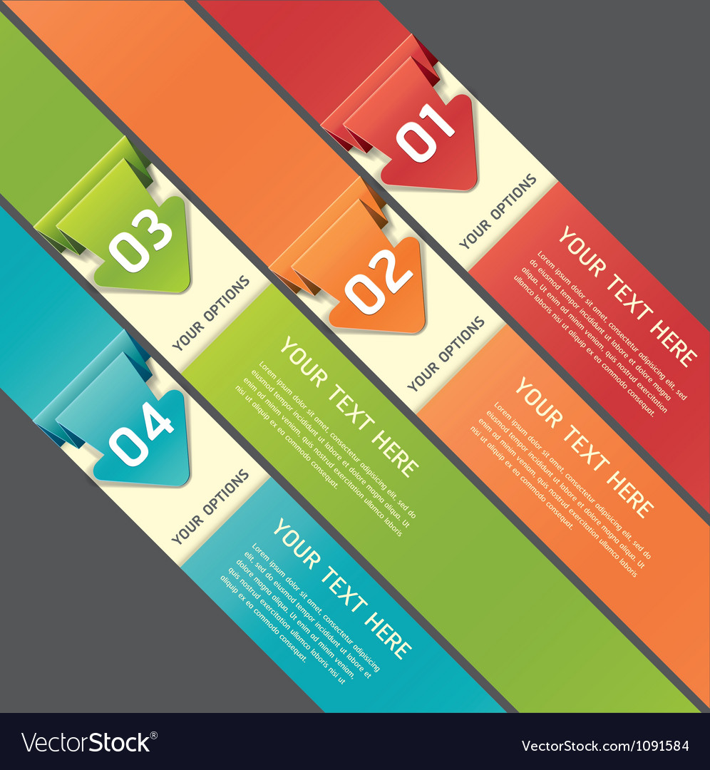 Colorful Origami Style Number Options Banner