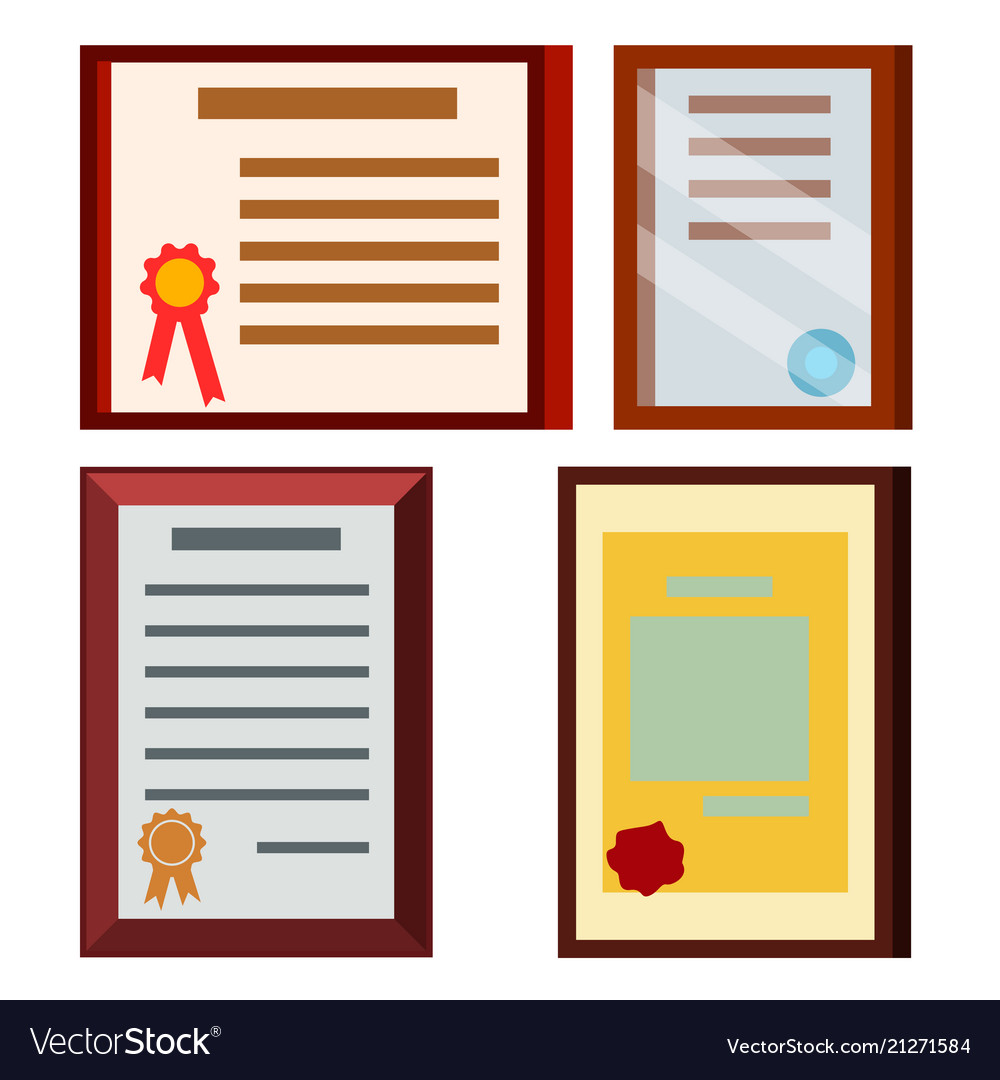Diploma certificate set business