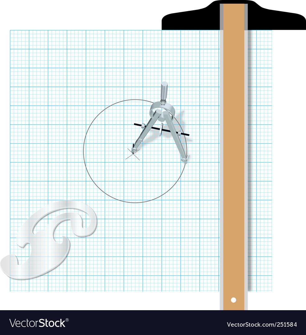 Drafting tools Royalty Free Vector Image - VectorStock