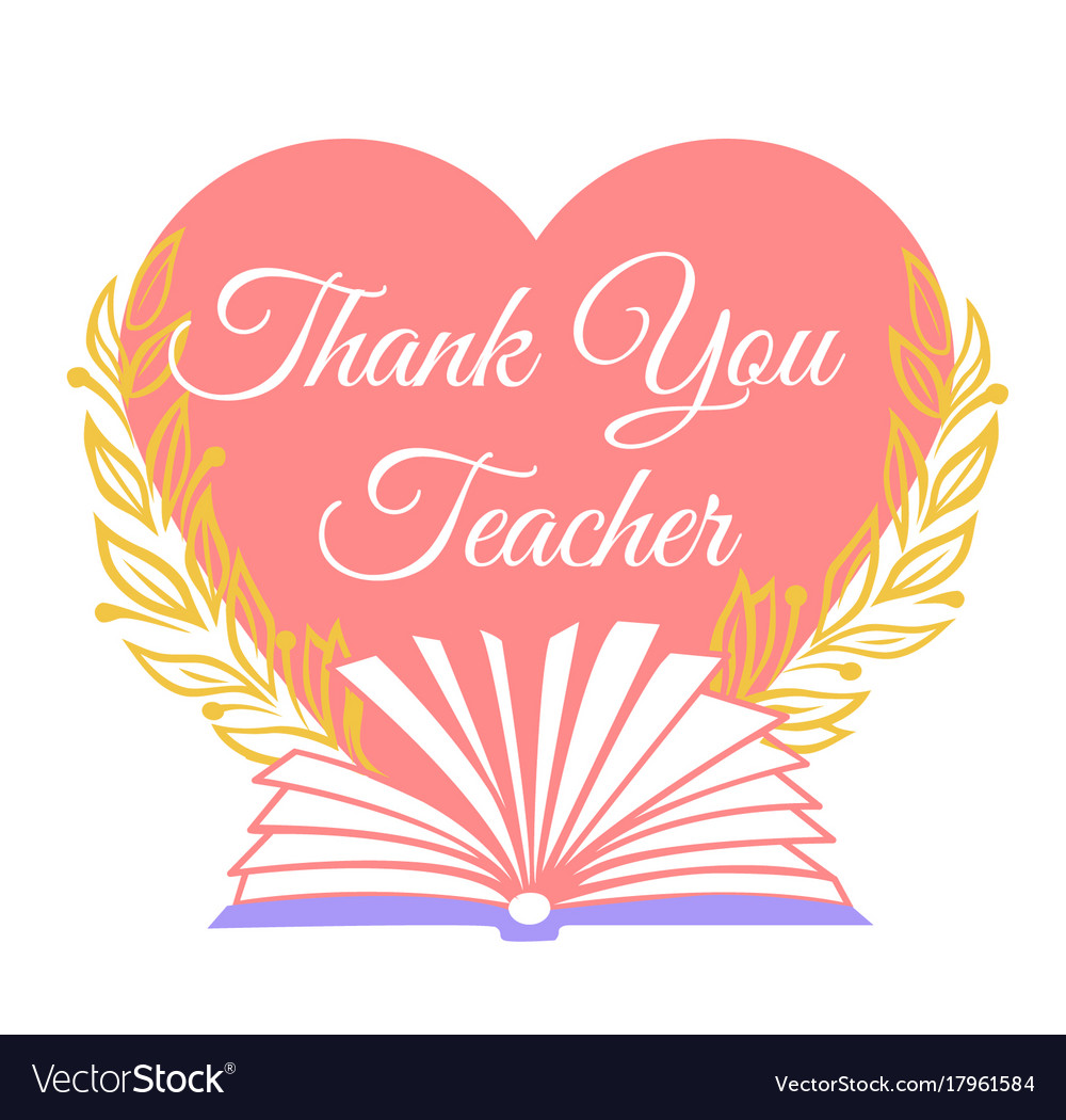 Greeting card thank you teacher royalty free vector image greeting card thank you teacher vector image m4hsunfo