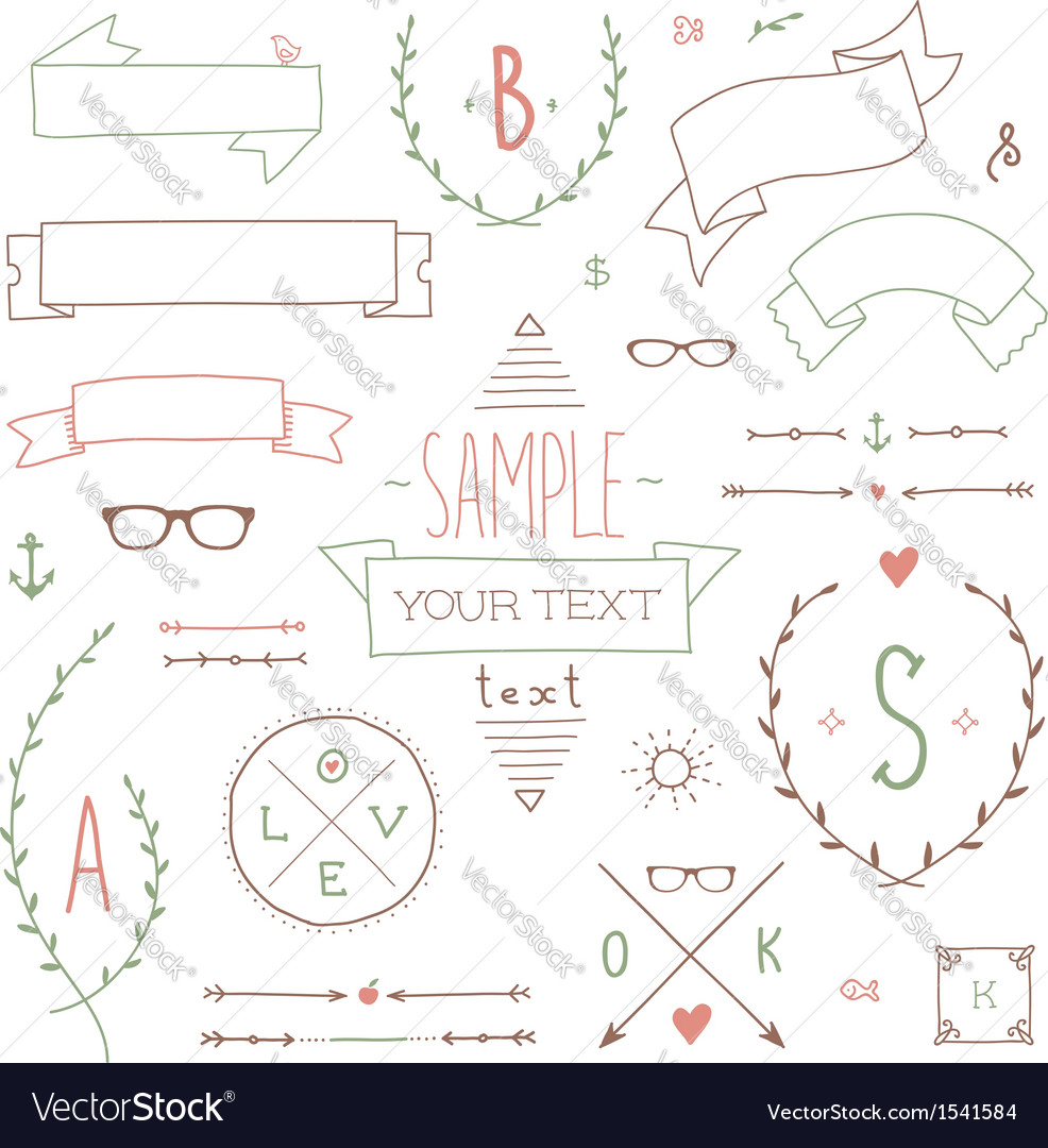 Hipster set ribbon