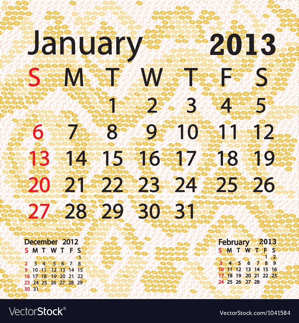 Calendar February 2020 Snake Background January 2013 calendar albino snake skin Royalty Free Vector