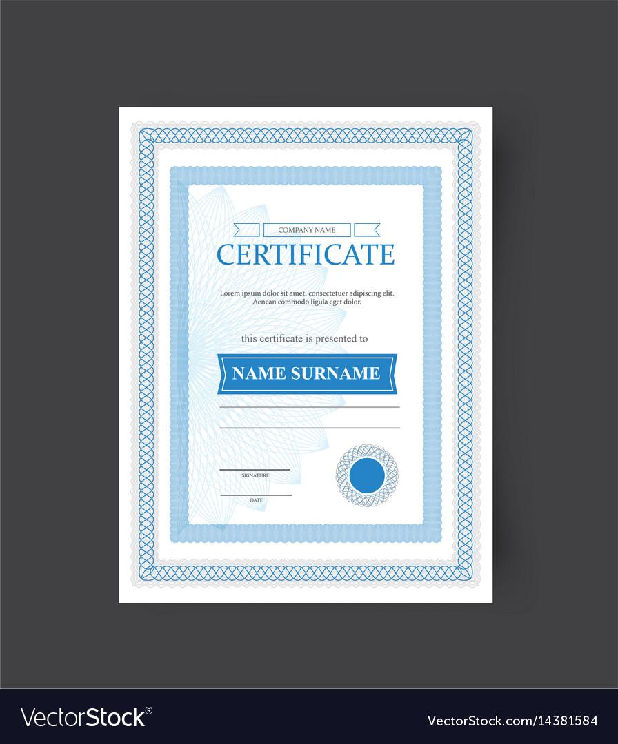 Template of the certificate congratulations