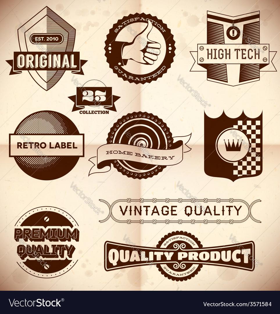 Vintage labels Collection 23