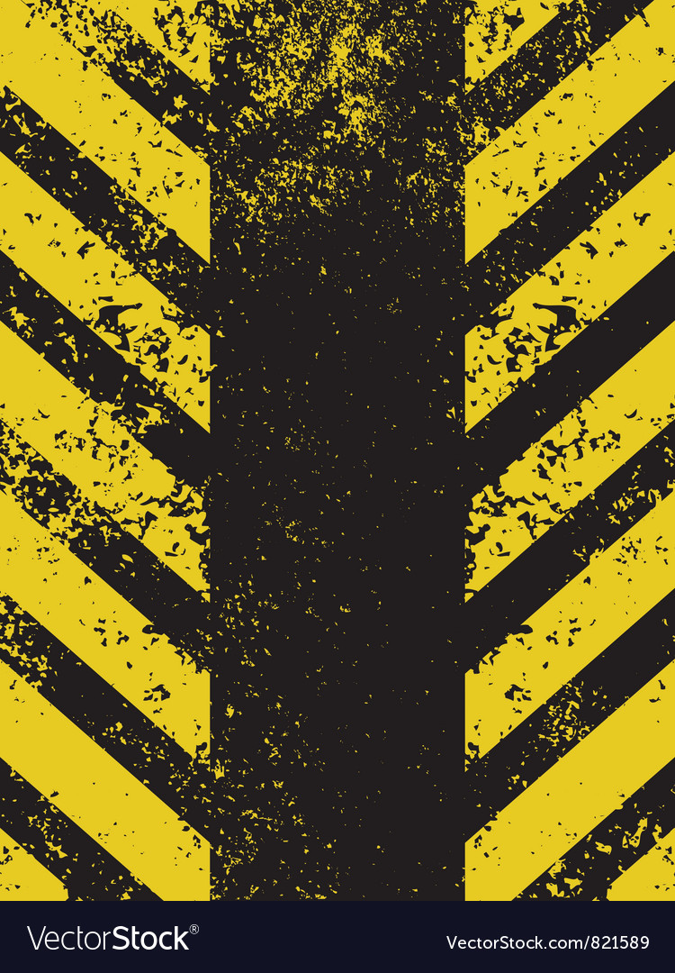 A grungy and worn hazard vector image