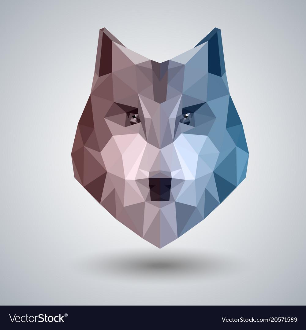 Abstract polygonal tirangle animal wolf hipster