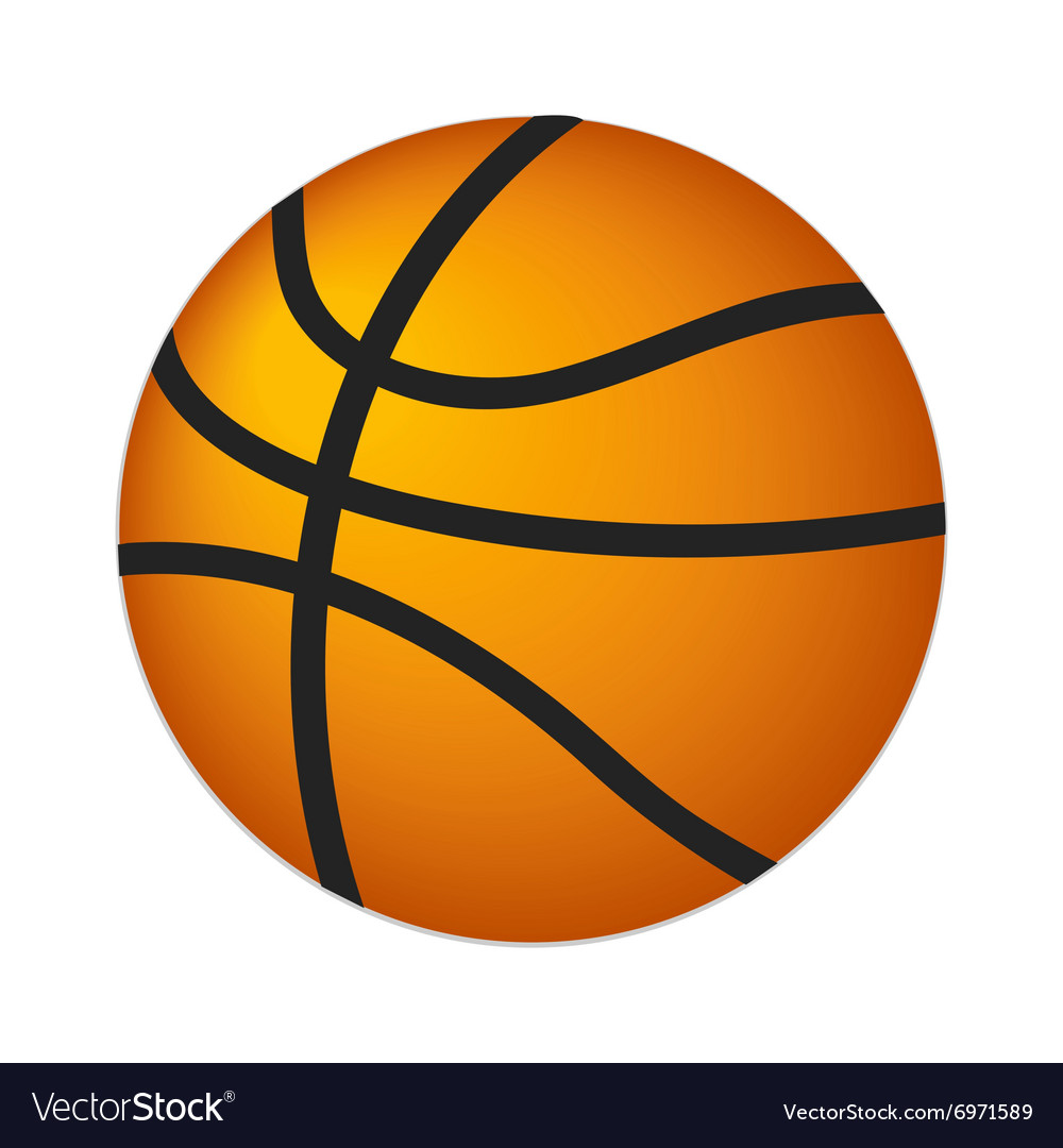 Basketball ball isometric 3d icon