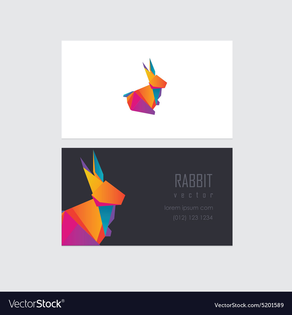 Company Business Card Template Royalty Free Vector Image