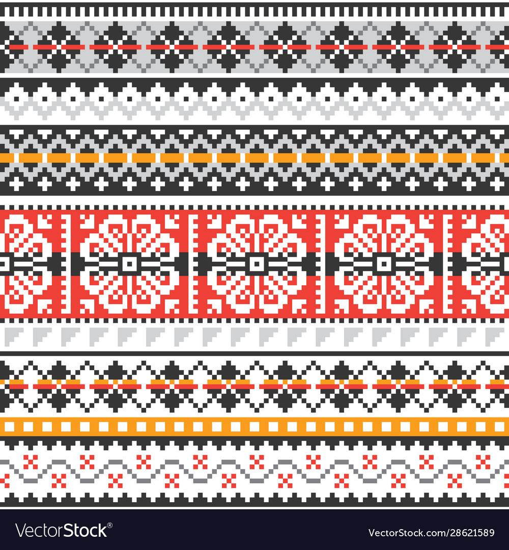 Fair isle knit traditional seamless pattern