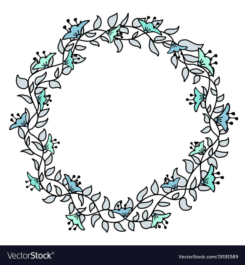 Flower hand-drawn gentle frame