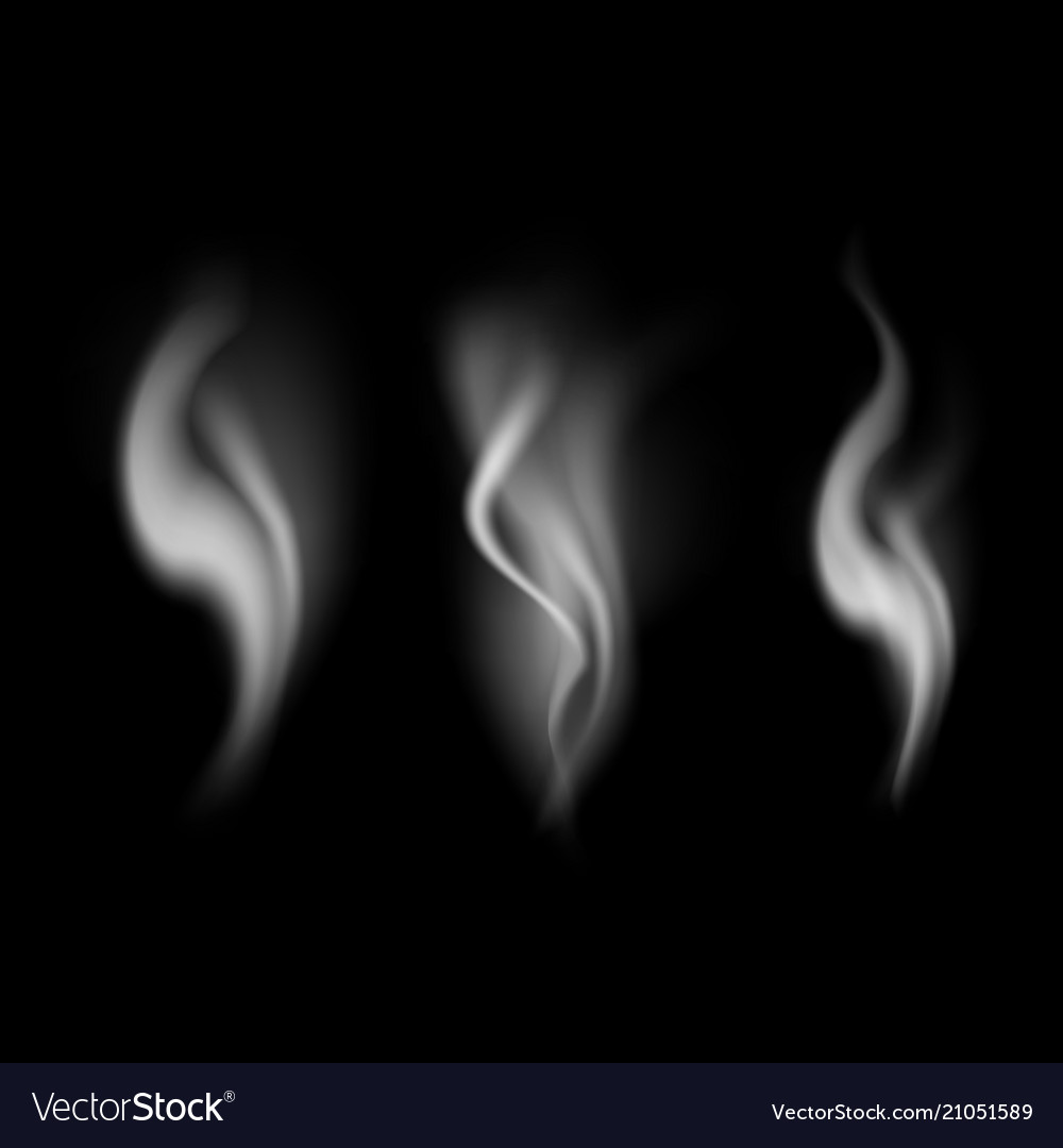 Realistic detailed 3d images smoke set