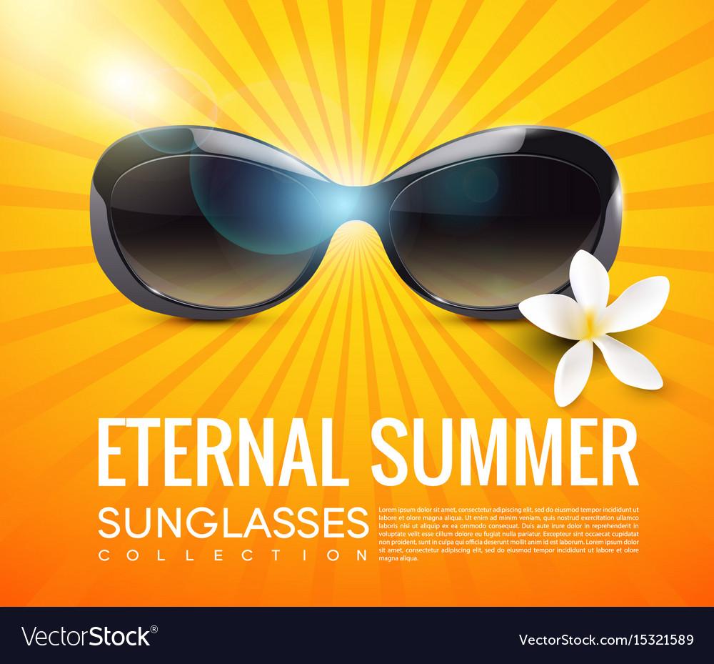 Stylish modern sunglasses template