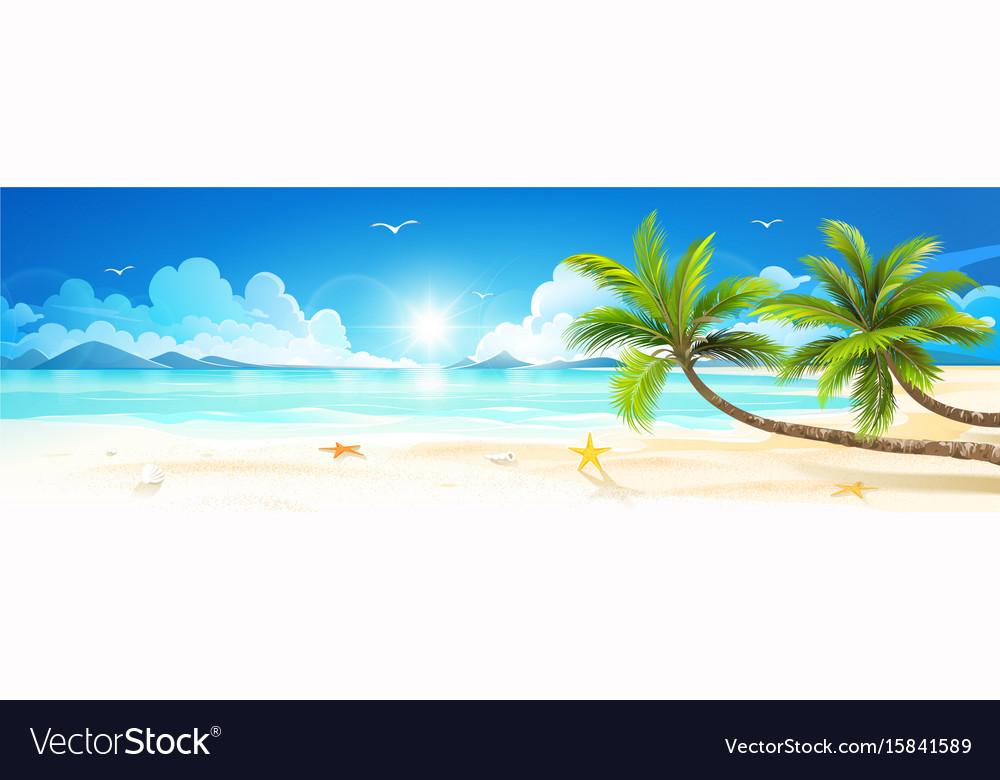 Summer holidays on tropical beach