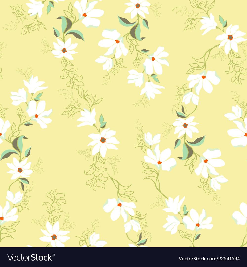 Bright magnolia seamless pattern