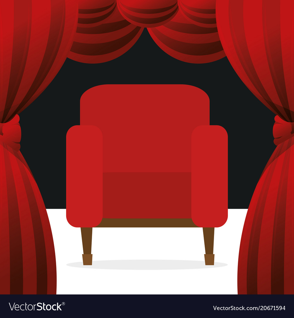 Cinema Chairs Entertainment Icon Vector Image