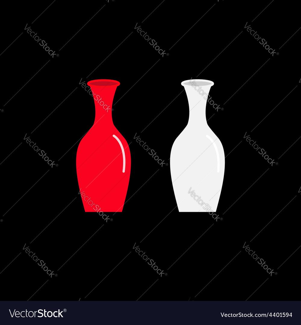 Feng Shui Vase icon set Ceramic Pottery Glass vector image