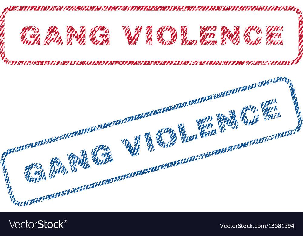 Gang violence textile stamps