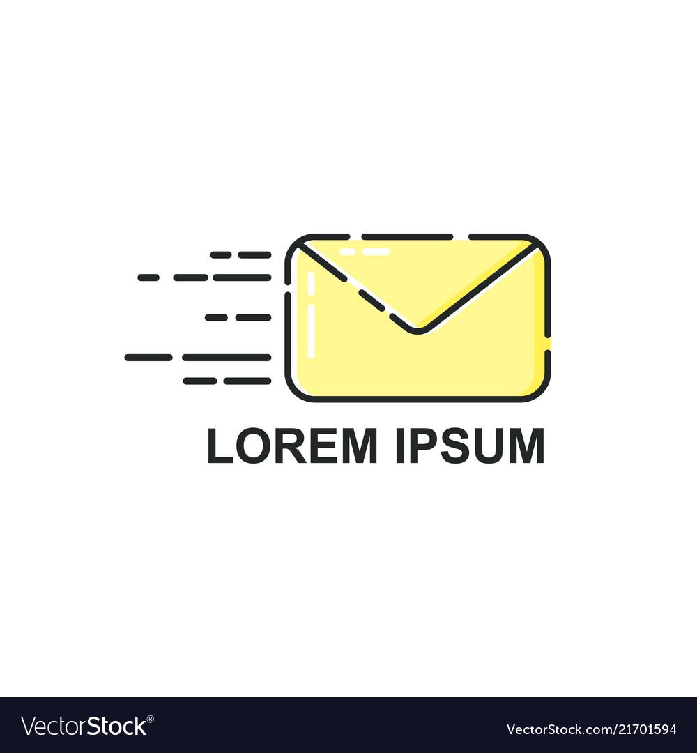 Logo template envelope icon