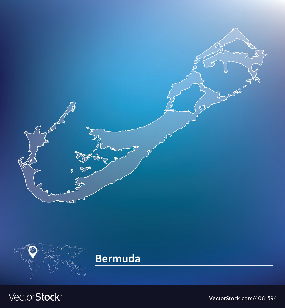 Map of Bermuda Royalty Free Vector Image - VectorStock