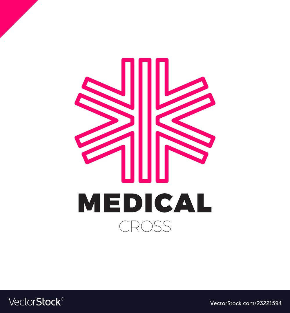 medic cross icon pharmacy logo template corporate vector image