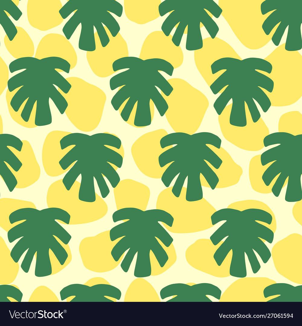 Monstera tropical jungle seamless pattern