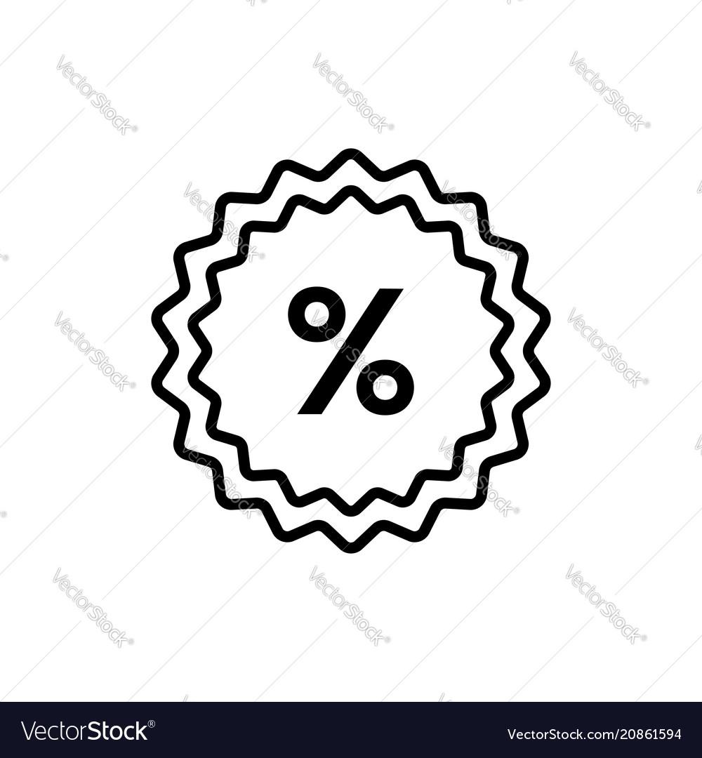 Percent - line design single isolated icon