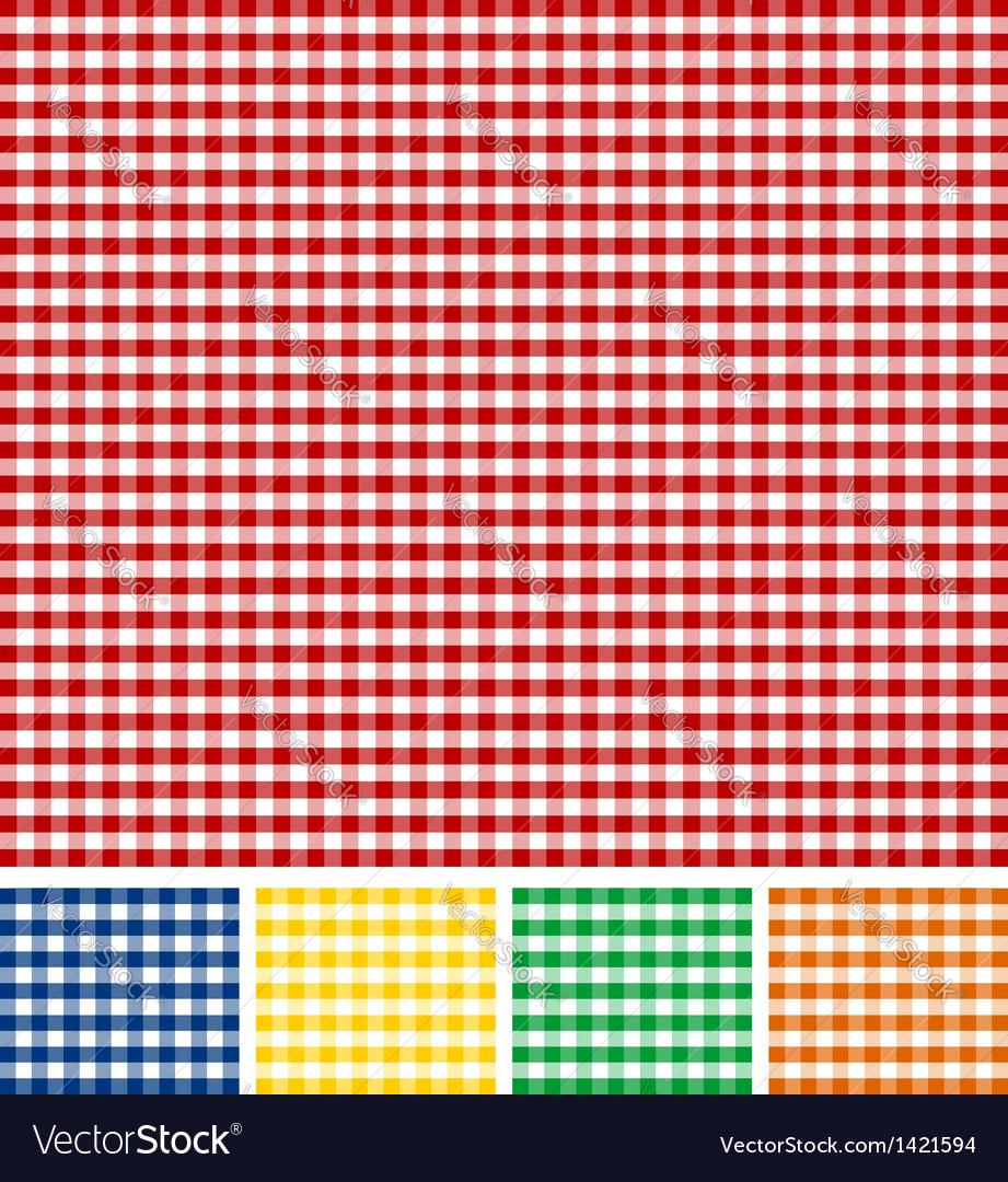 Picnic Tablecloth Texture vector image