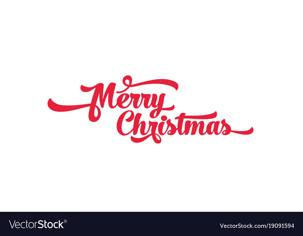 Merry Christmas Text.Red Text On A White Background Merry Christmas