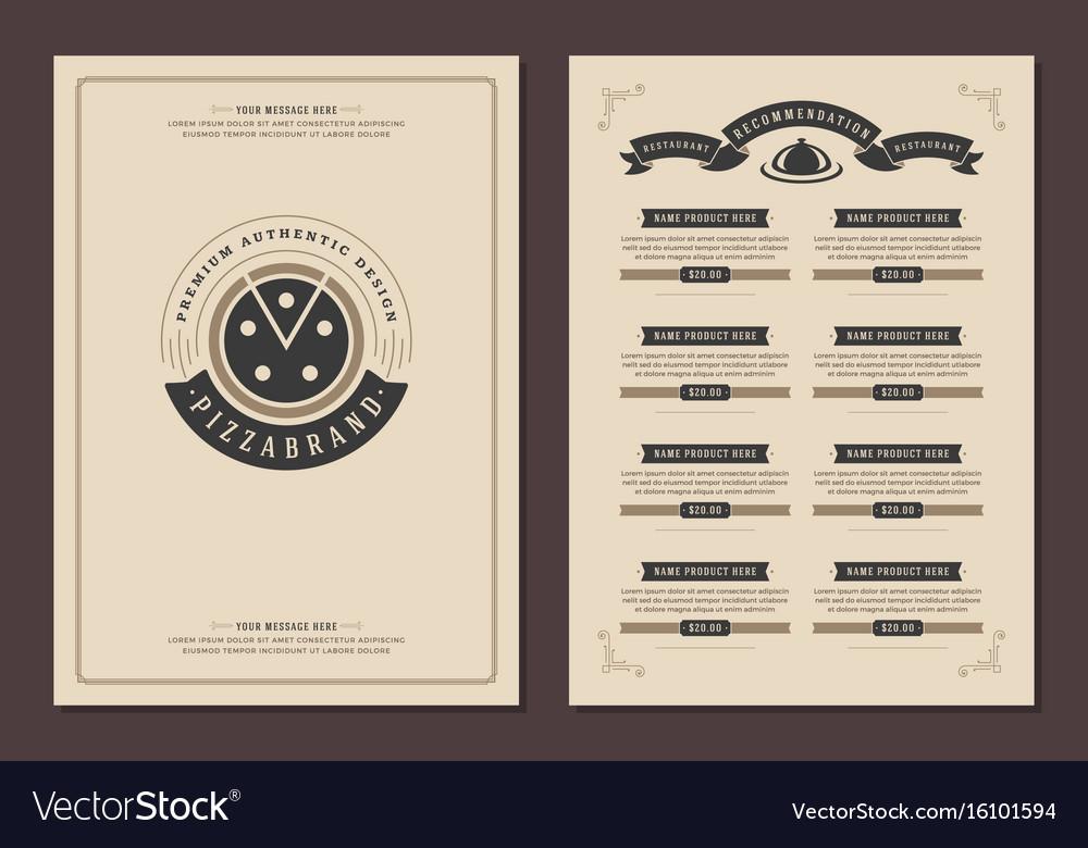 Restaurant logo and menu design brochure