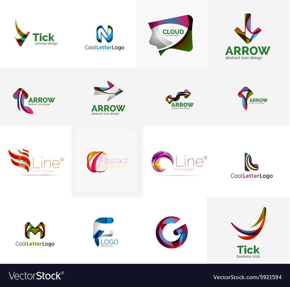 Set Of Universal Company Logo Ideas Business Icon