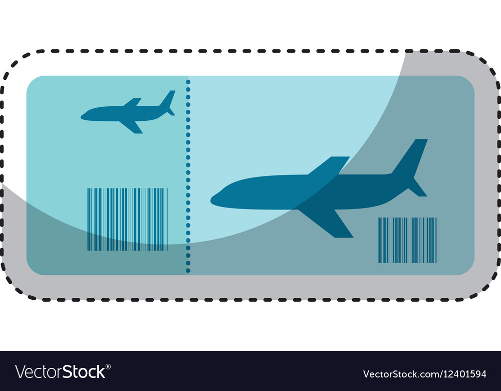 Ticket flight isolated icon