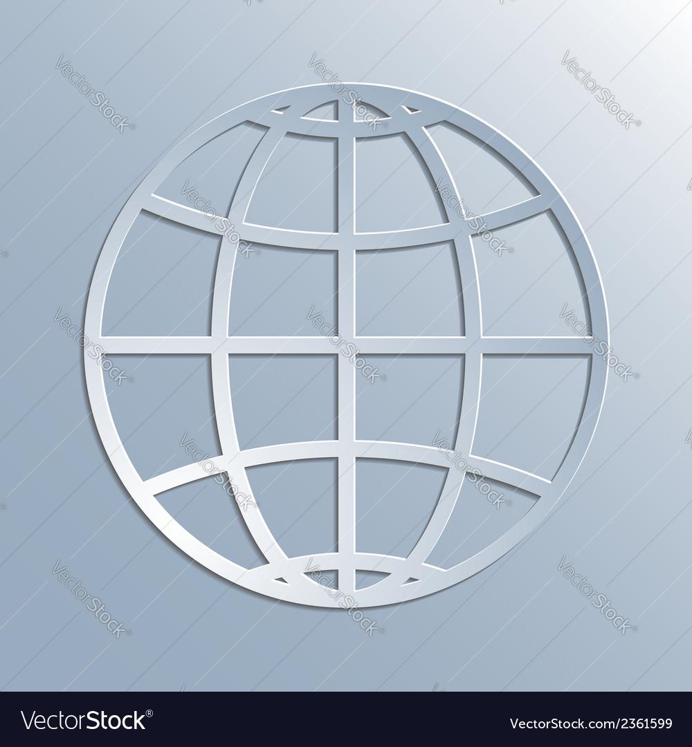 Earth symbol icon vector image