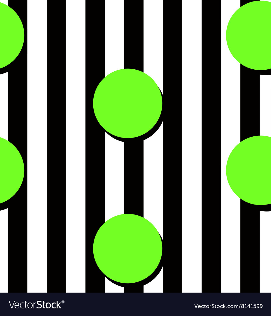 Modern stripes and circles pattern vector image