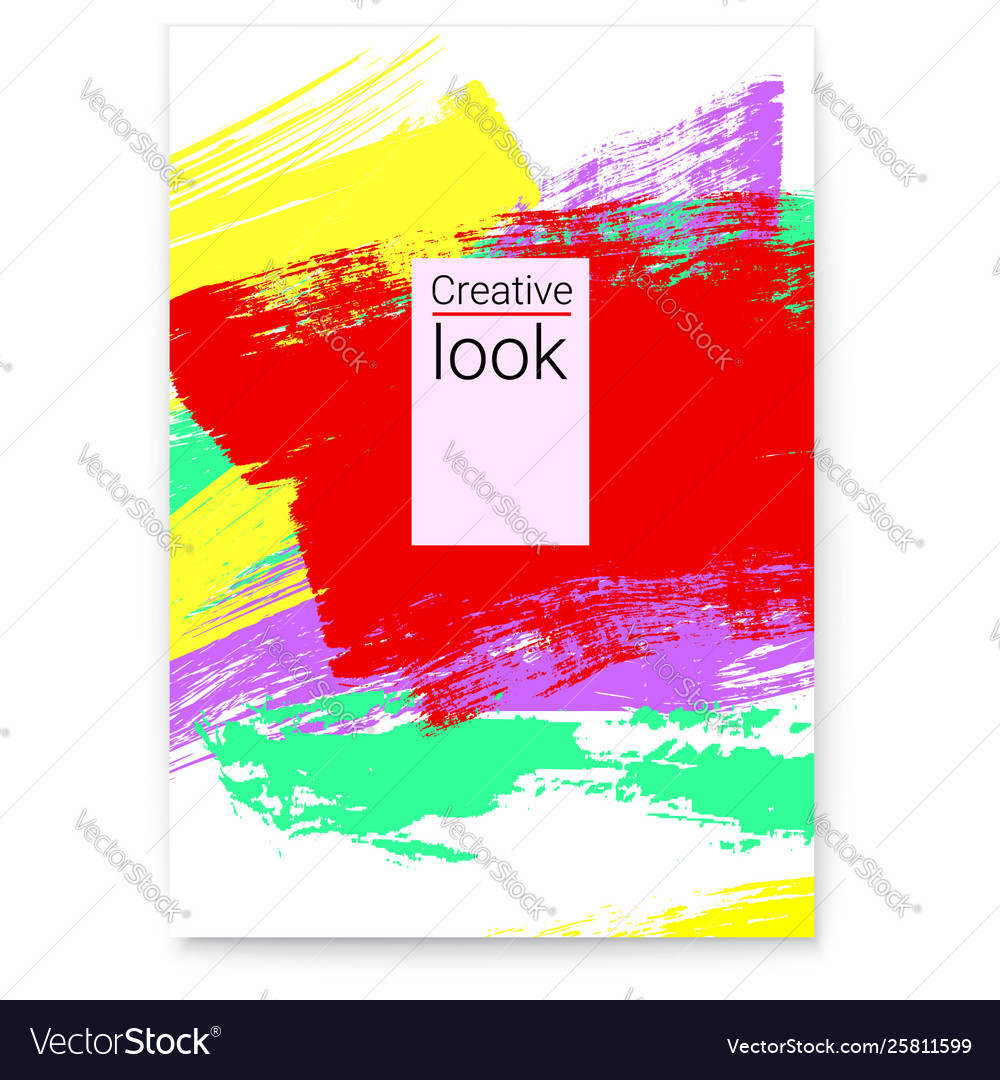 Poster abstract colorful frame for flyer vector