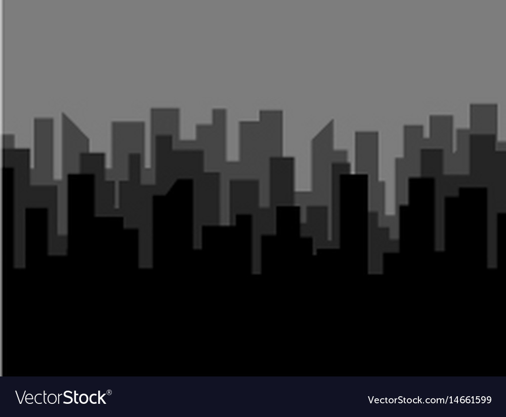 Poster template with dark city skyline vector image