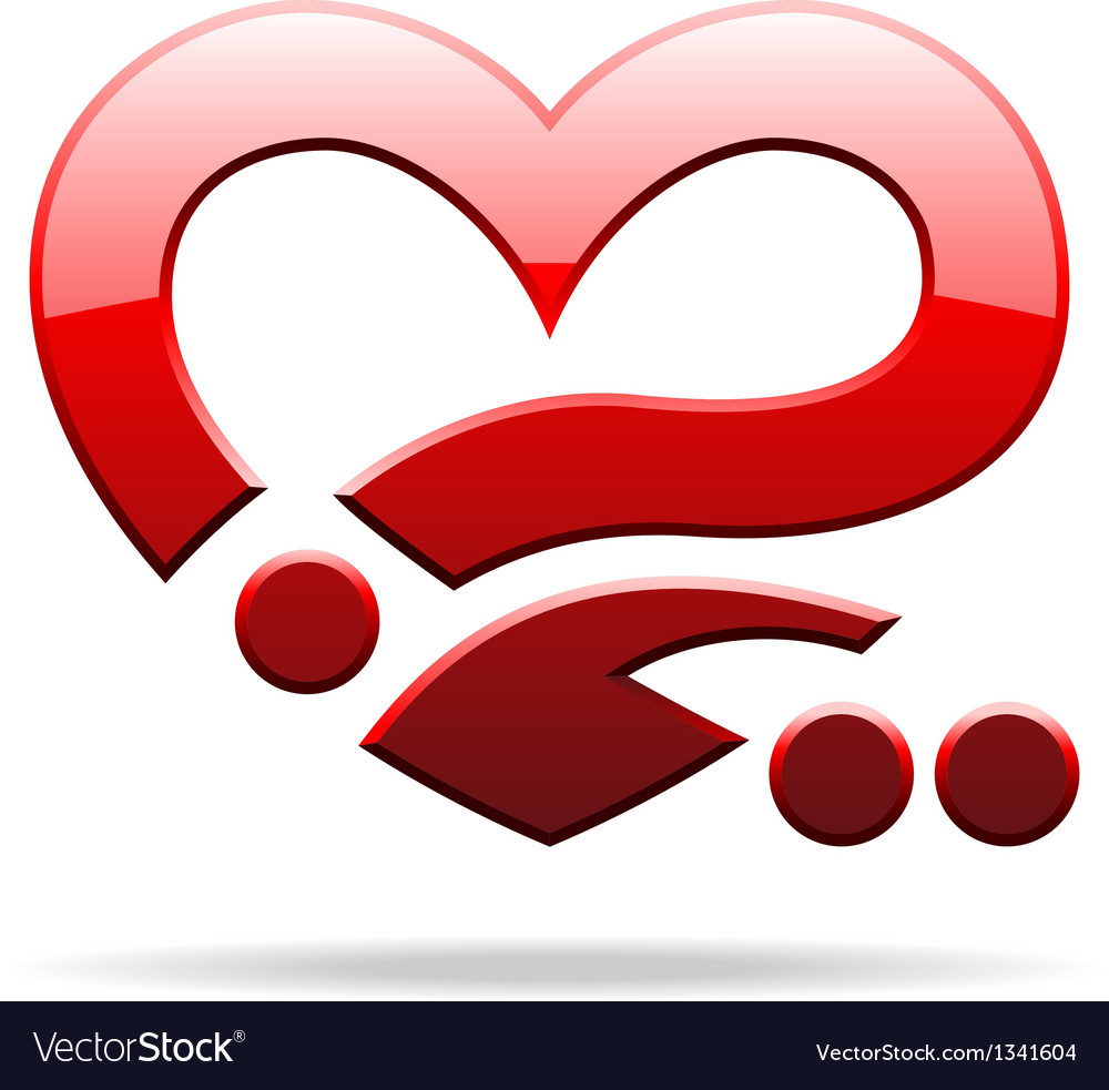 Abstract heart sign vector image