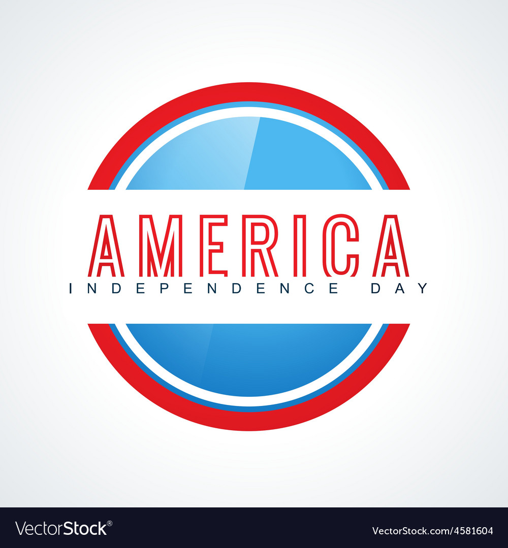 Atylish american independence day design