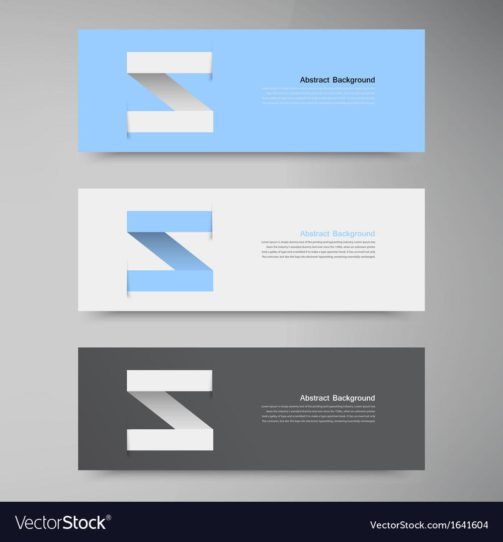 Banner Design template label arrow Royalty Free Vector Image