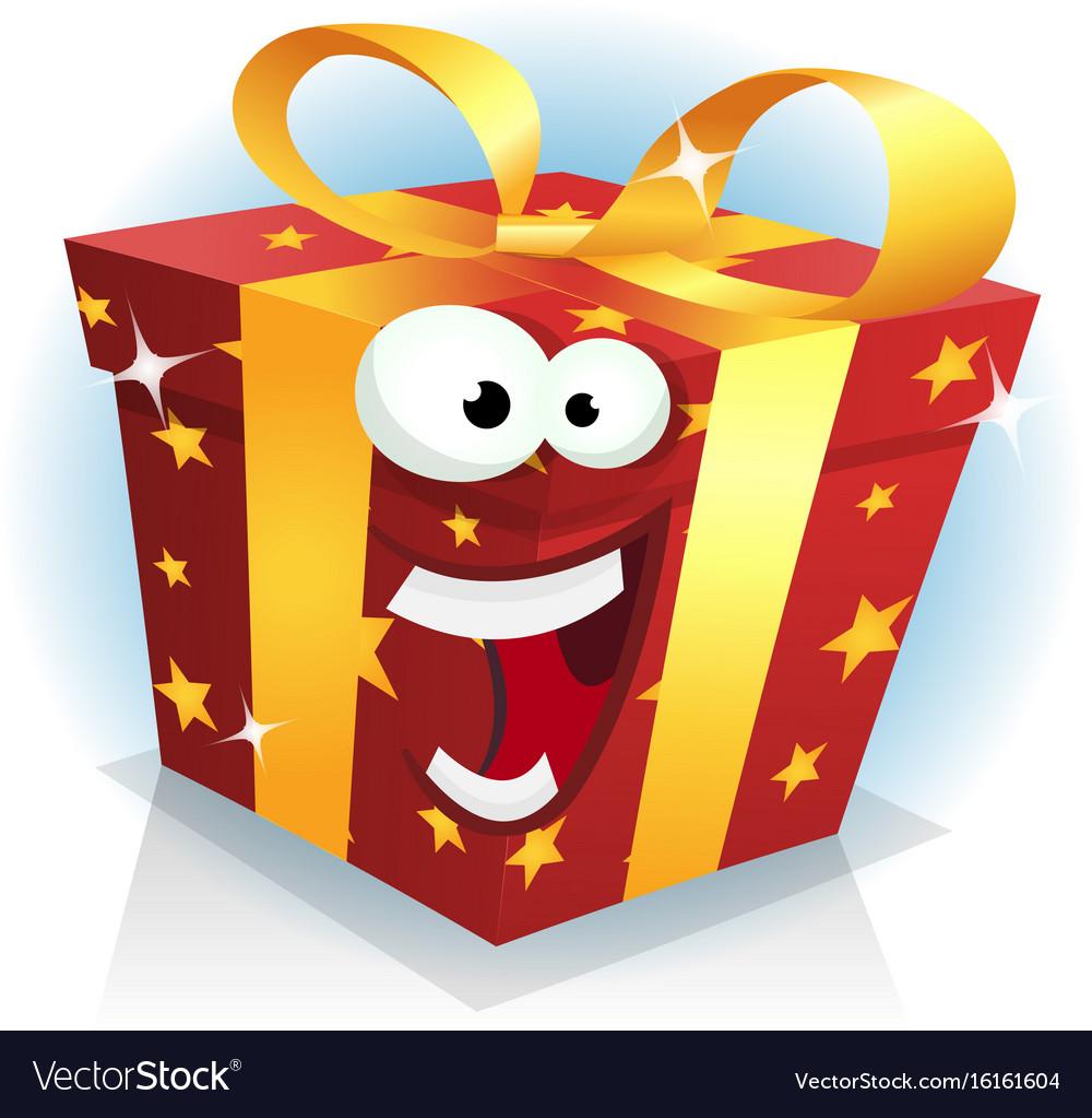 Christmas And Birthday Gift Box Character