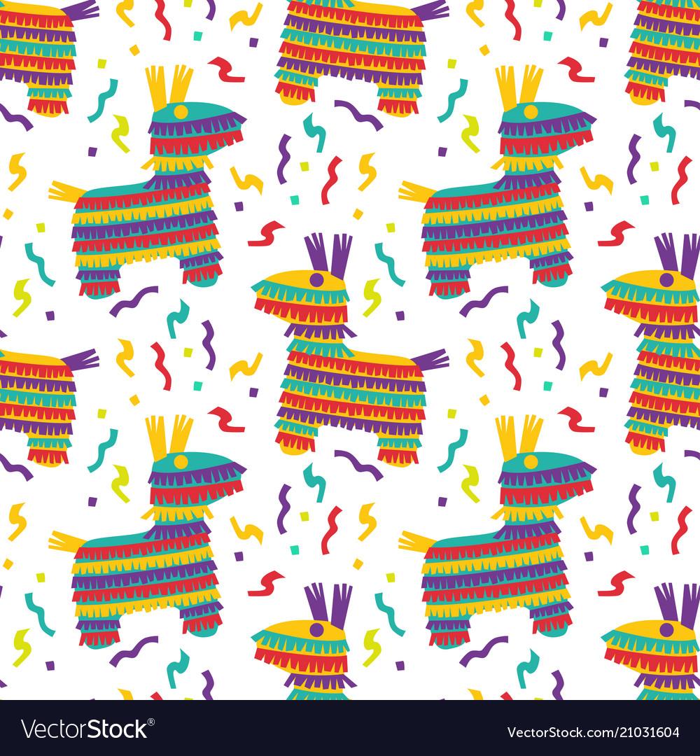 Cinco de mayo seamles pattern with fiesta
