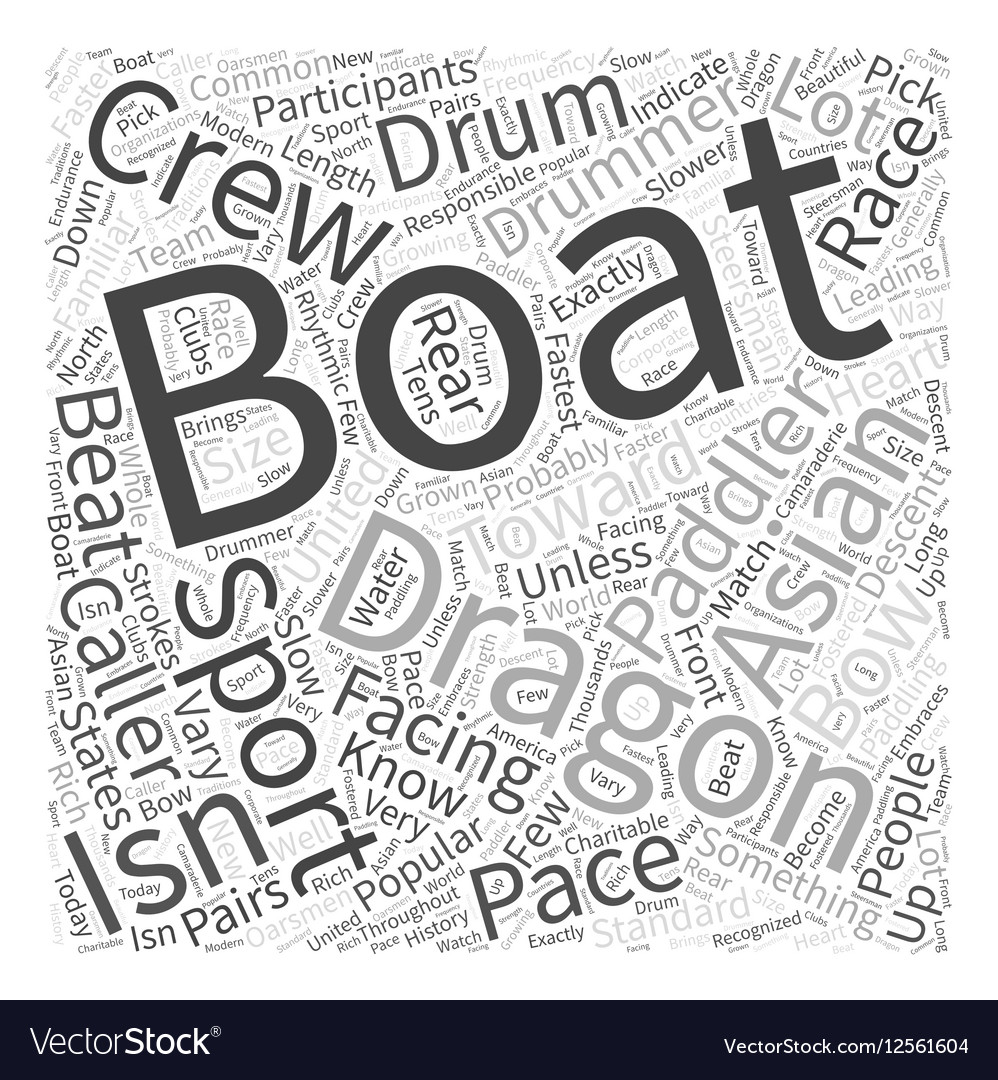 Dragon Boating Word Cloud Concept