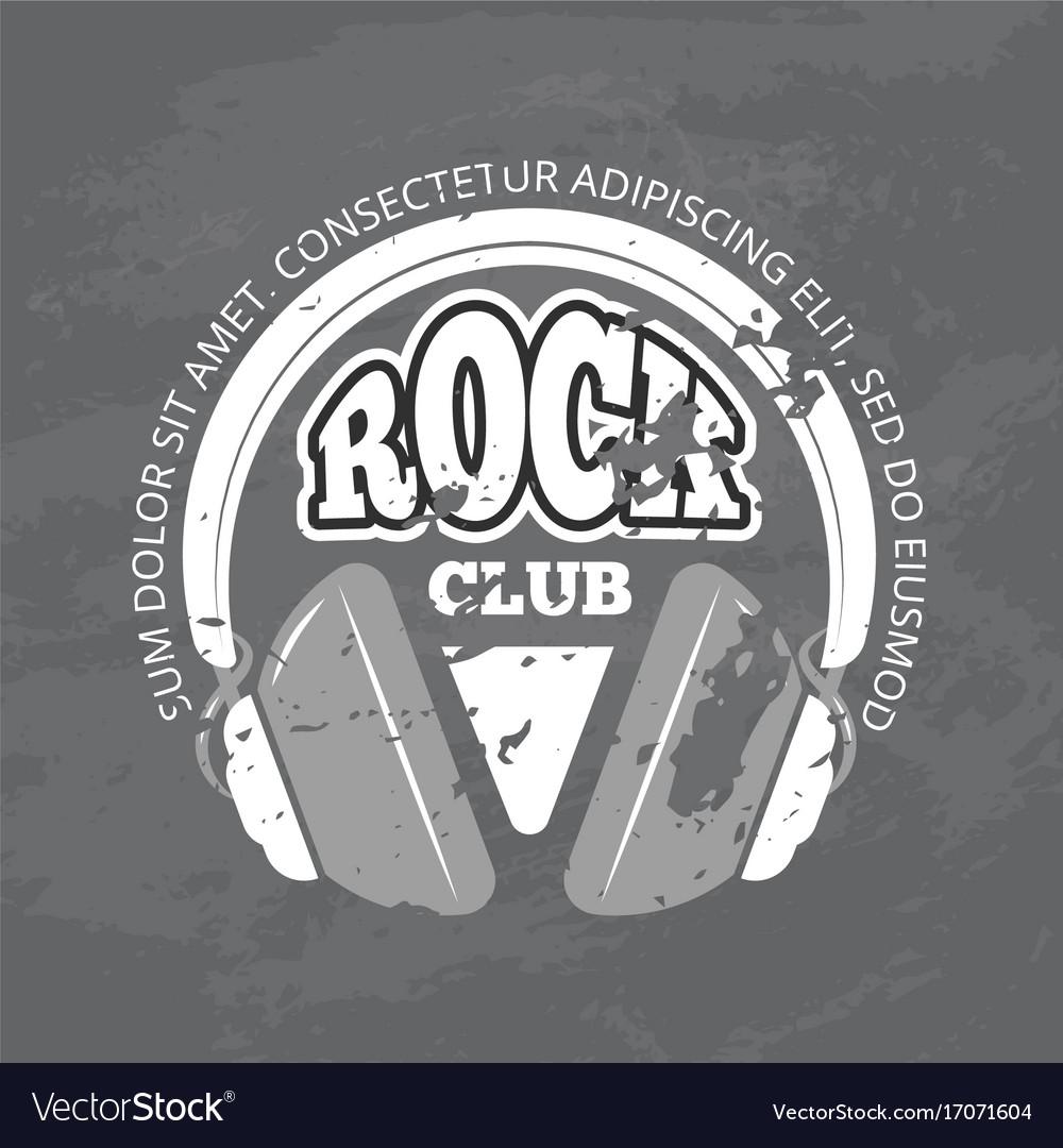 Retro rock music club shop logo