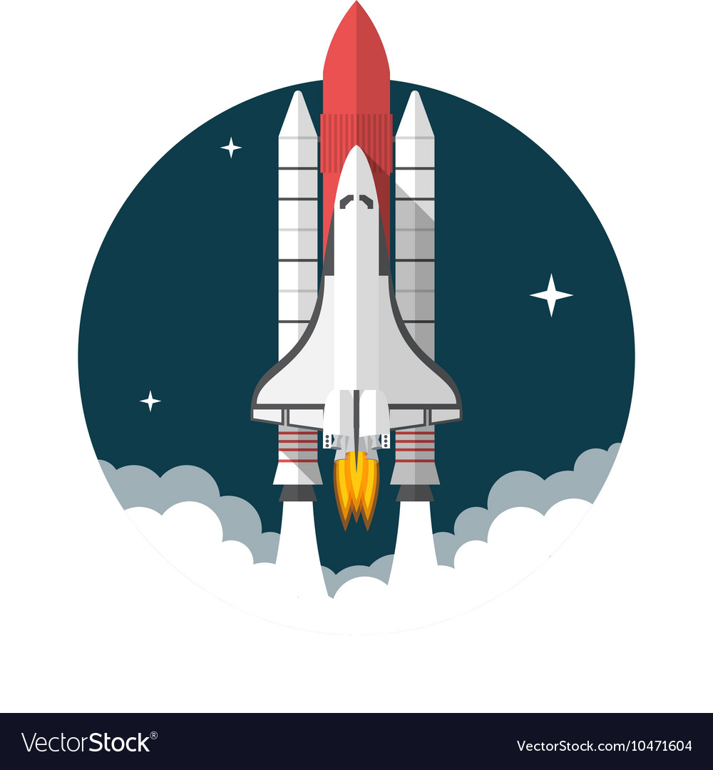 space shuttle royalty free vector image vectorstock rh vectorstock com space shuttle vector png space shuttle vector logo