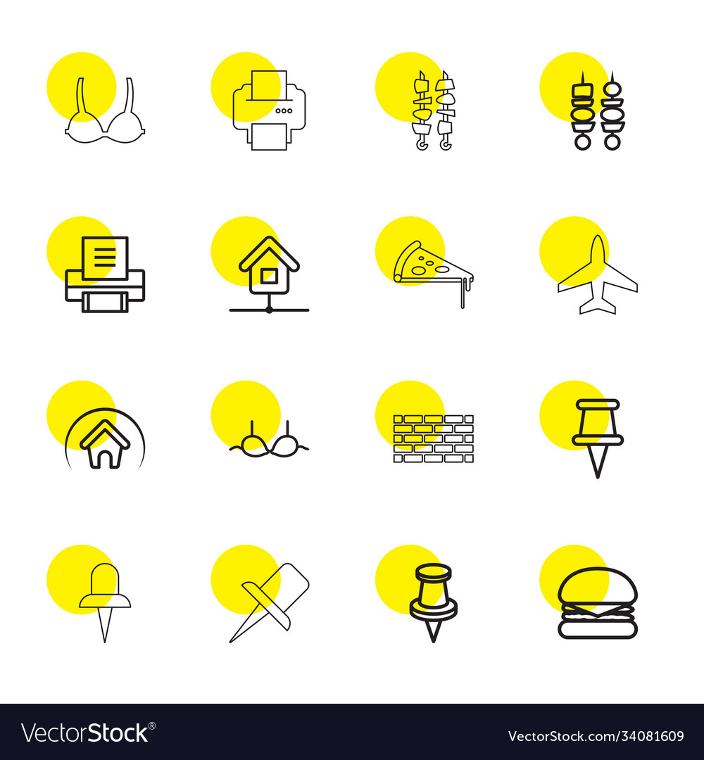 16 solid icons