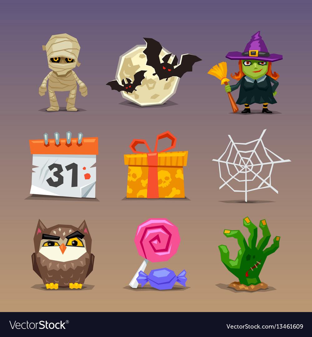 Funny halloween icons-set 2