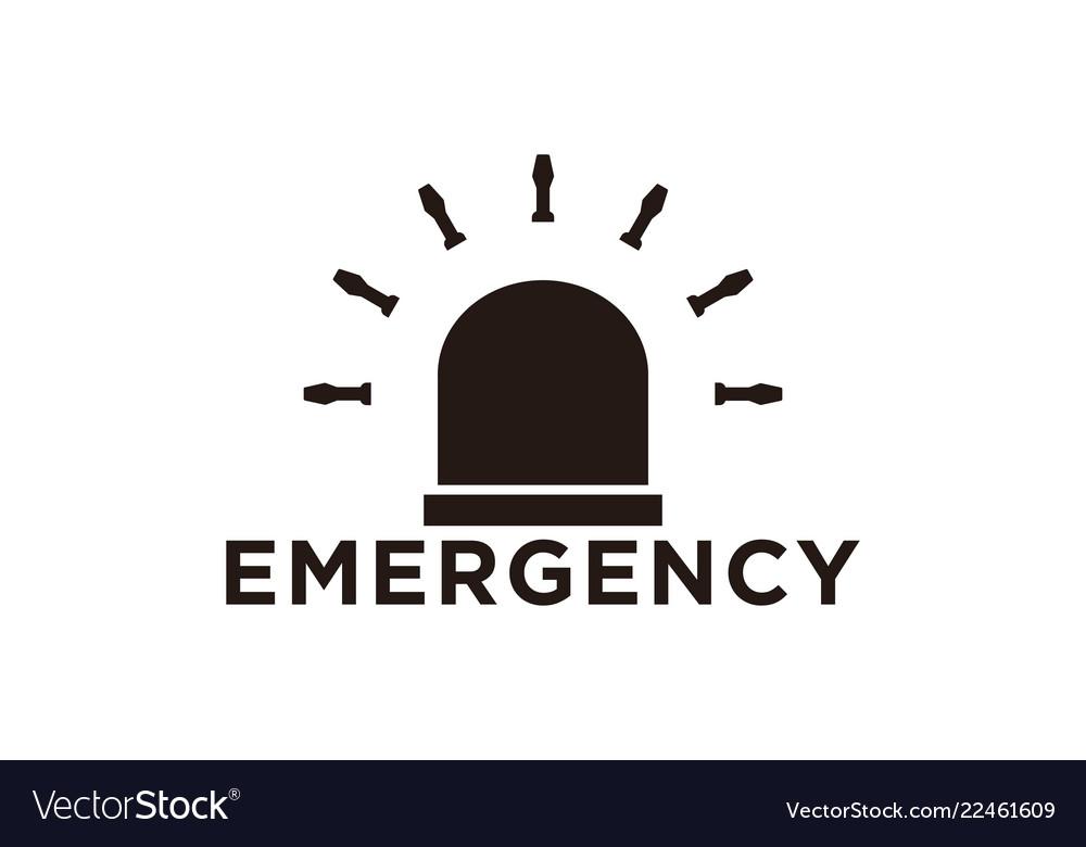 Lamp ambulance emergency logo