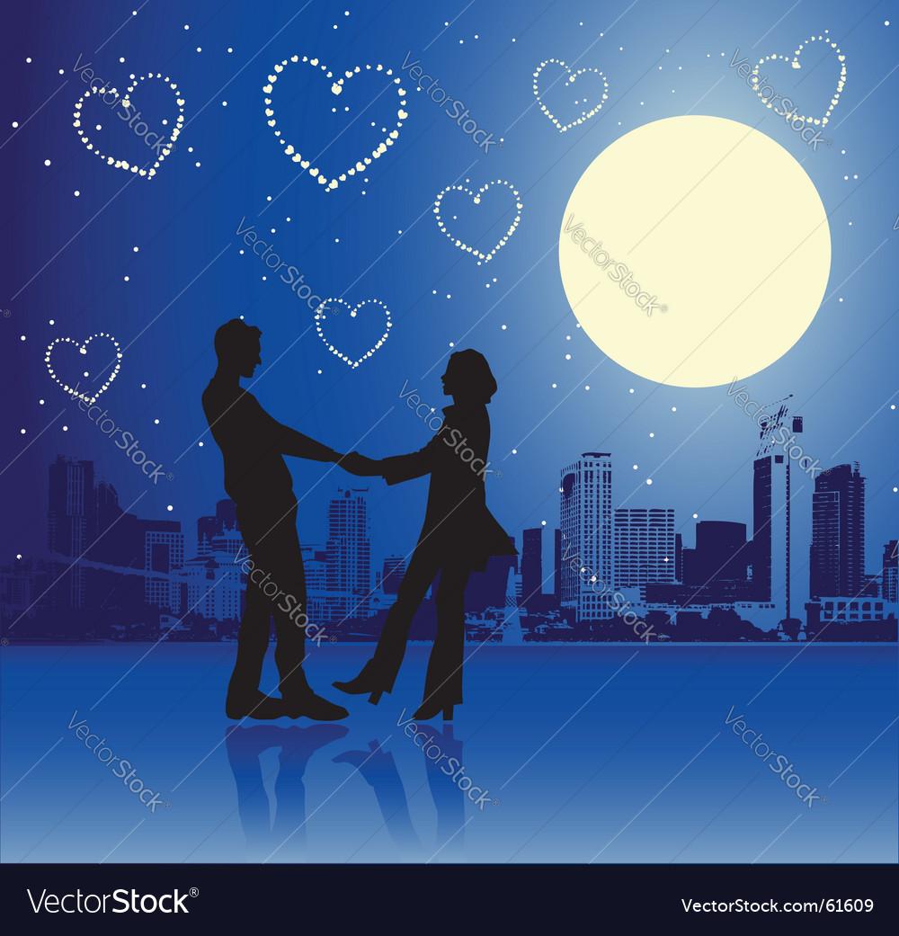 Valentine day urban scene couple