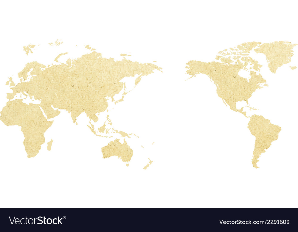 World Map Paper Of Royalty Free Vector Image Vectorstock