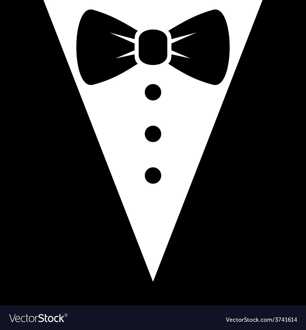 Bow Tie and Black Suit Icon