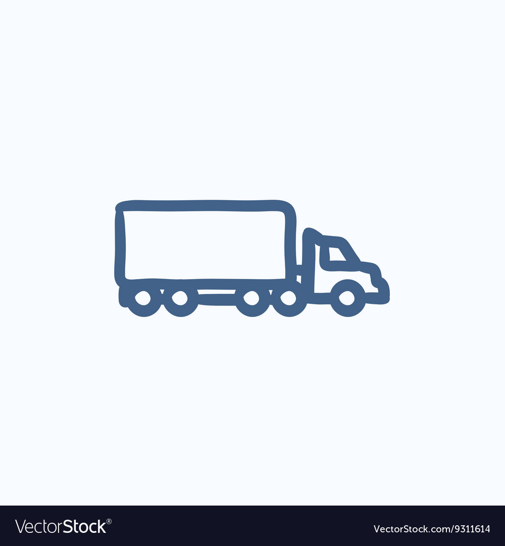 Delivery truck sketch icon